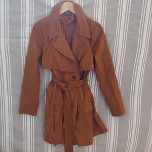 Amaryllis double breasted trench coat